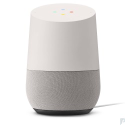 Google Home Wireless Voice-activated speaker - White/Slate Fabric